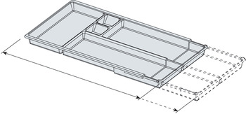 Adjustable interior tray, for OFFIBOX office steel drawer