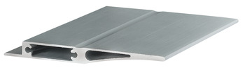 Aluminium profile, for Logo shelf system, end profile for removable shelves
