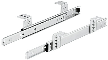Ball bearing runners, Shelf and drawer runners, single extension, Accuride 2109, load-bearing capacity up to 34 kg