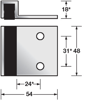 Bolt through partition fittings, Bumper