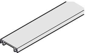 Clip panel, For mounting rail and double running track, 25 x 6 mm (W x H)