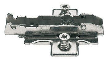 Cruciform mounting plate , fixing with pre-assembled Euro screws, 4 point fixing