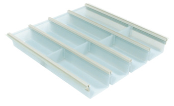Cutlery insert, for Blum Tandembox and Grass Nova Pro drawer side runner systems