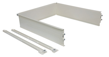 Drawer systems, Supraplex, steel, 3-Sided folding, 107 mm high
