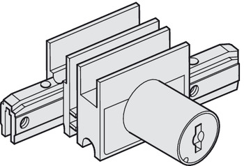 End piece, With lock for cylinder core, with counterpiece and glass groove