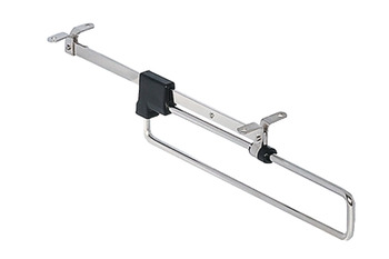 Extending wardrobe rail, For screw fixing beneath shelves or cabinet tops, load-bearing capacity 4–8 kg