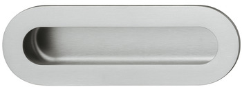 Flush handles, stainless steel, oval