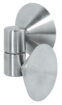 Glass door hinge, Opening angle 180°, for all-glass constructions