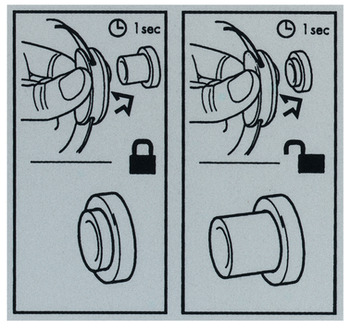 Operating instructions, For glue fixing, for LockerLock LL 100 and LL 200 Dialock locker lock set