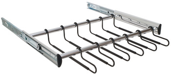 Pants Rack Pull-out, With full extension slide, 18 hangers
