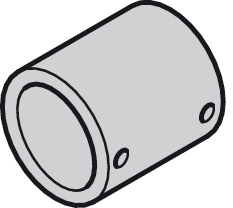 Plug-fit coupling, for length connection