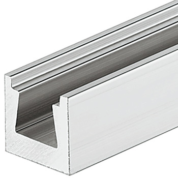 Rail, With dovetail groove, for concealed installation