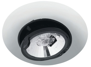 Recess mounted light, round, swivelling, Haleos 4008, G4, halogen 12 V