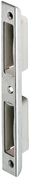 Recessed striking plate, for rebated doors, square, 170 mm