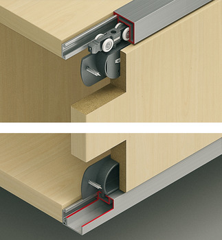 Sliding door fitting, Slido Classic 20 IF R, set