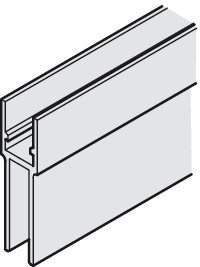 Support and glass fixing profile