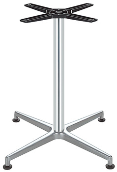 Table base, With feet, with four or five feet, aluminium