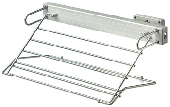 Trouser rack, For 5 pairs of trousers, single extension