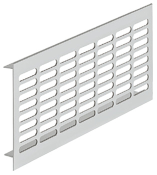 Ventilation grill, Aluminium with smooth flanges, Startec