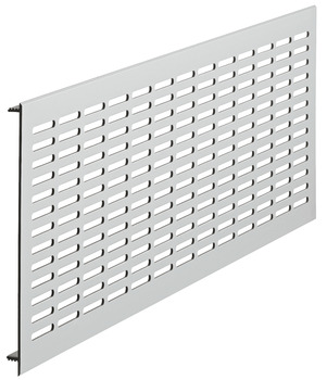 Ventilation grill, square, aluminium, harpoon-type fixing, slotted