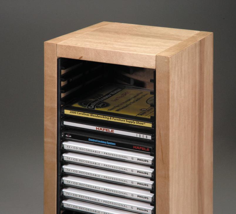 cd storage rack pop out storage racks order from the h fele n z shop. Black Bedroom Furniture Sets. Home Design Ideas