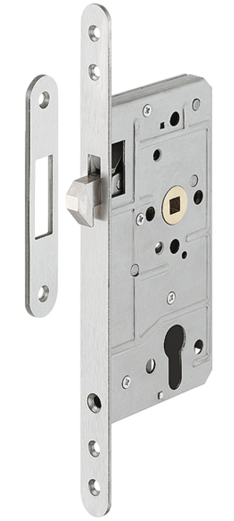 mortise lock for sliding doors with hook latch profile cylinder backset 55 mm order from. Black Bedroom Furniture Sets. Home Design Ideas