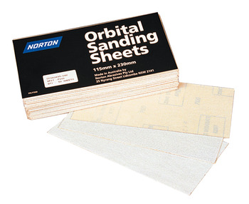 Abrasive sheets, paper backed PSA