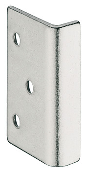 Angled striking plate, for spring bolt rim lock