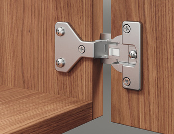 Architectural hinge, Aximat 100 A, for half overlay mounting, 6 mm gap