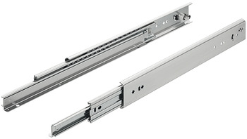 Ball bearing runners, full extension, load-bearing capacity up to 230 kg, steel, for surface mounting
