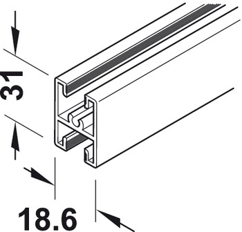 Bar profile, For subdividing door panel