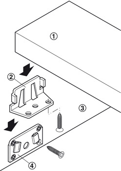 Bed connector, for beds with central tie bar, can be disconnected
