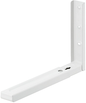 Bracket, for small electrical appliances, rigid, load-bearing capacity 40 kg per pair
