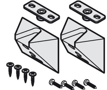 Centring set, For centring doors of cabinets