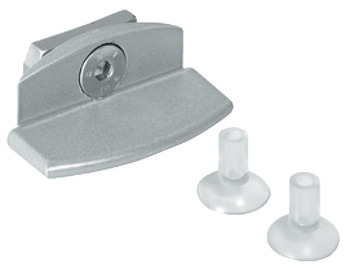 Clamping element, for glass shelves, for Logo shelf system