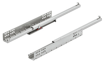 Concealed runners, Häfele Matrix Runner UM S25, single extension, load bearing capacity up to 25 kg, steel, pin installation