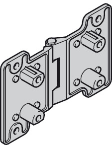 Connecting hinge, can be detached, with removable steel pin