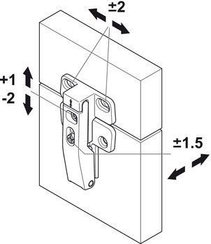 Connecting hinge, for E-Senso and Senso