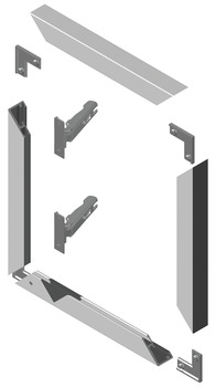 Corner connector, for aluminium glass frame profiles 23/26/38 x 14 mm