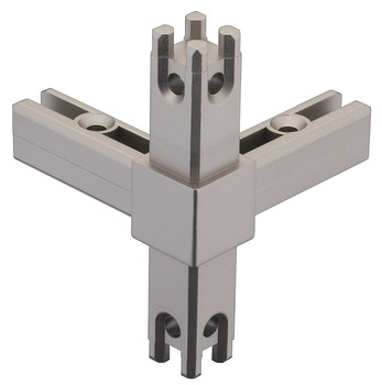 Corner joint, for multi-level shelf system, aluminium