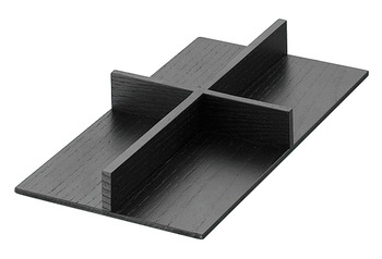 Cross divider insert for frame, Cosmetic insert for drawer, wood