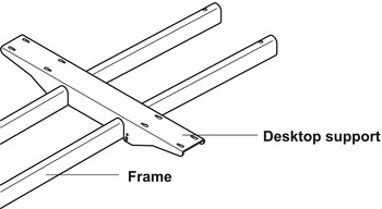 Desktop support, For 2 frames, for table top depth 800 mm