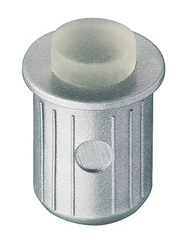 Door buffer, for push fitting into drill holes Ø 8 mm