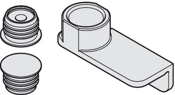 Door centring, For flush position of doors with ceiling connection or from worktop