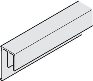 Double guide track, For screw fixing