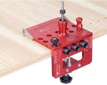 Drill guide set, Red Jig concealed hinges 35 mm, drilling dimension 45/9.5