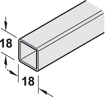 End section, Aluminium, Height 300-450 mm, Schuco Smartcube