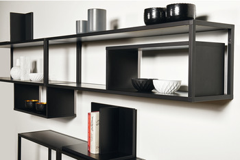 End section, For shelf system, aluminium