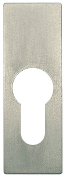 Escutcheon plate, PZ 60 single profile cylinder, nickel plated