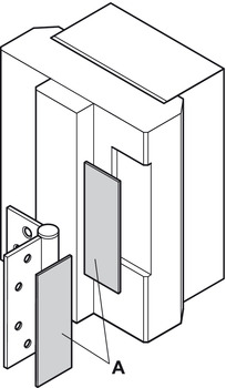 Fire resistant fitting, For door hinges